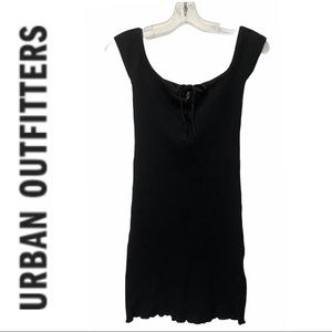 Urban Outfitters Black Tie-Front Mini Dress